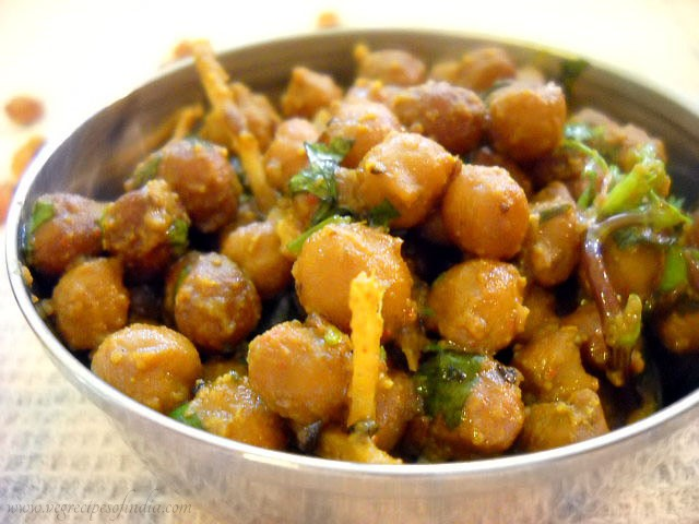 dry kala chana, dry kala chana recipe, punjabi dry kala chana,
