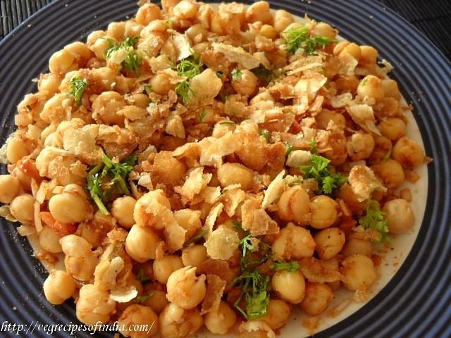 making chana chaat recipe