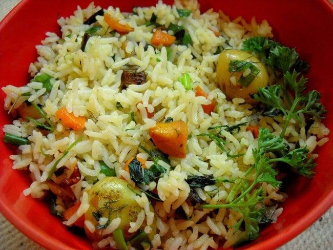 herb rice recipe