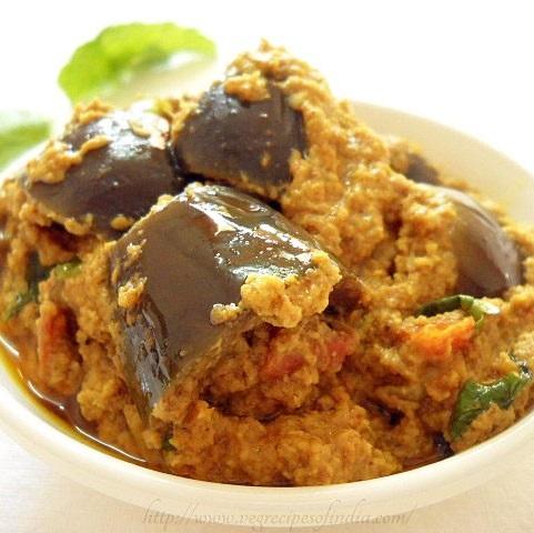 bharli vangi recipe, stuffed brinjal recipe