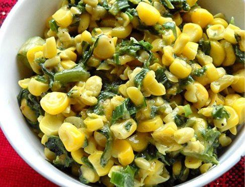 corn palak recipe