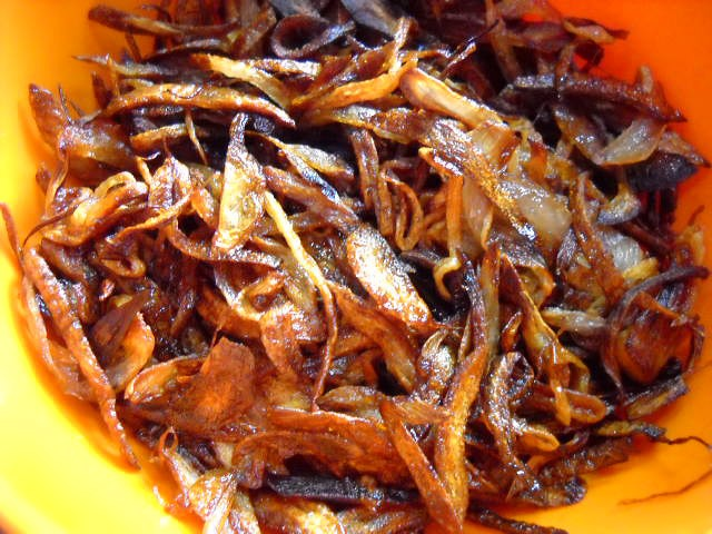 birista fried onions for mushroom biryani recipe