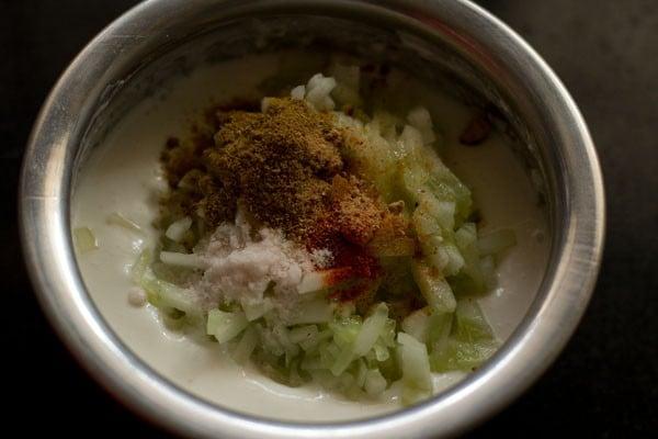 spices for cucumber raita recipe