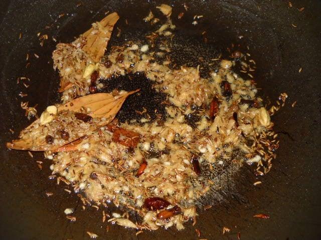 making mushroom biryani recipe
