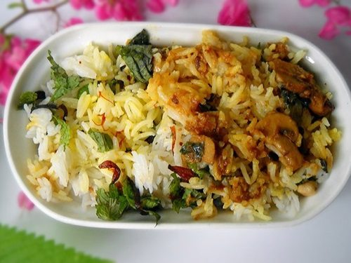 mushroom dum biryani recipe