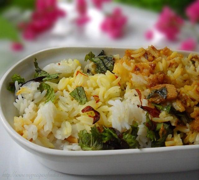 Mushroom biryani recipe veg dum mushroom biryani recipe for Awadhi cuisine vegetarian