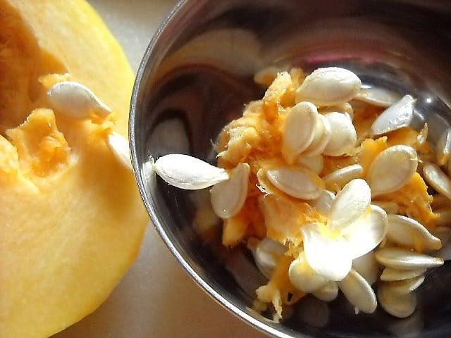 pumpkin seeds in a bowl