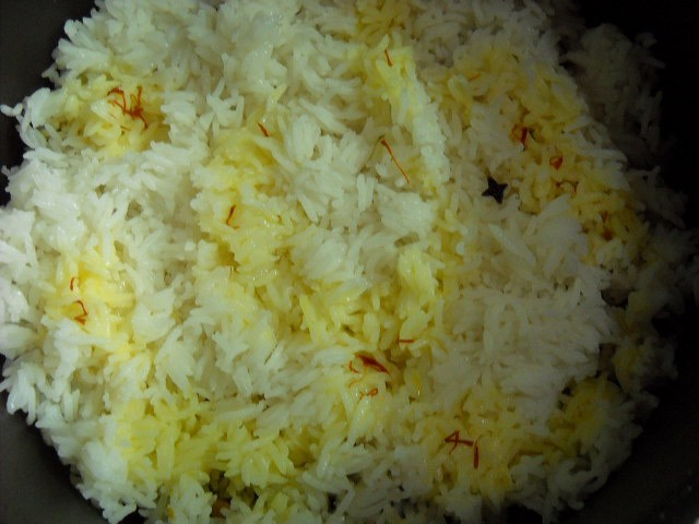 saffron added for mushroom biryani recipe