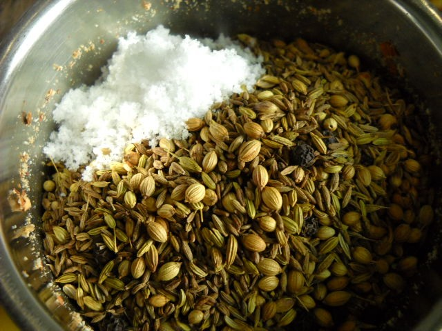 salt added for dukkah