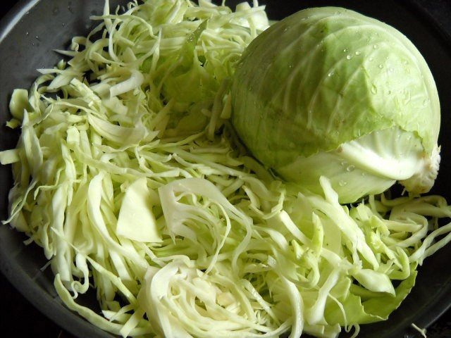 sliced cabbage for cabbage upkari recipe
