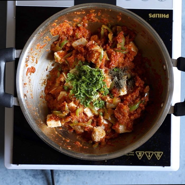 making kadai paneer recipe restaurant style