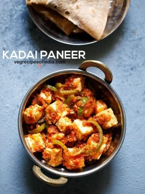 kadai paneer recipe, how to make kadai paneer (restaurant style)