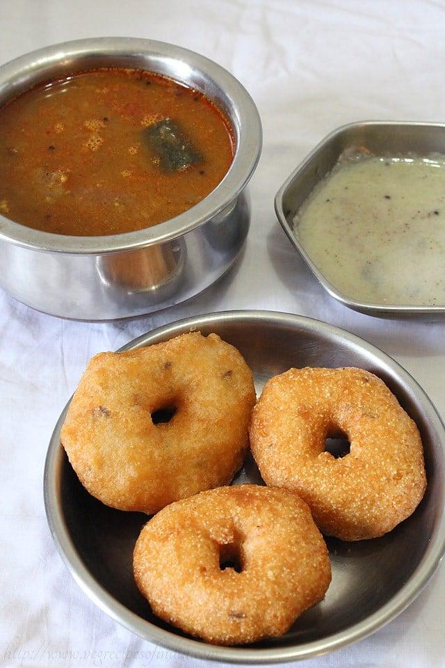 medu vada recipe, how to make medu vada recipe | step by step