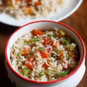 spanish fried rice, arroz mexicana