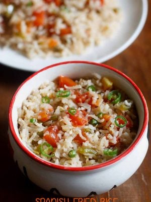 spanish fried rice, arroz mexicana