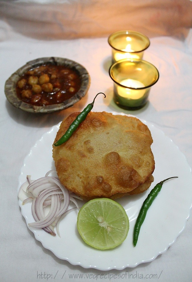 serve potato bhatura