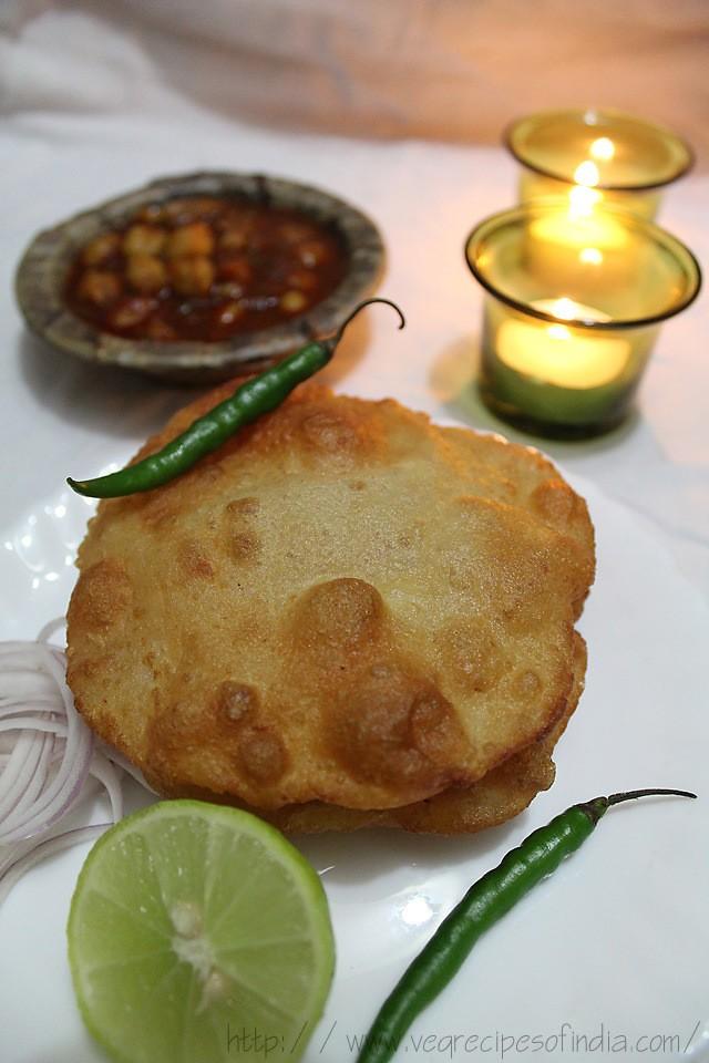 aloo bhatura recipe, how to make quick aloo bhature recipe