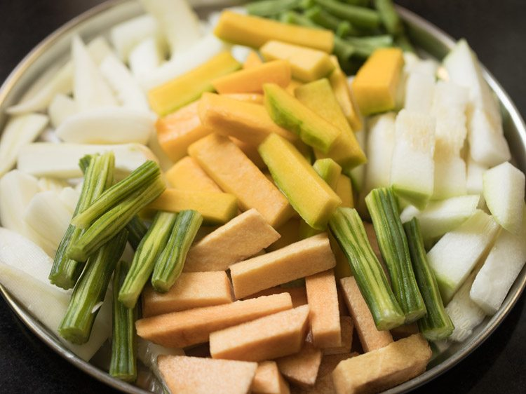 vegetables for making avial recipe