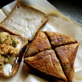 chaat style aloo toast sandwich