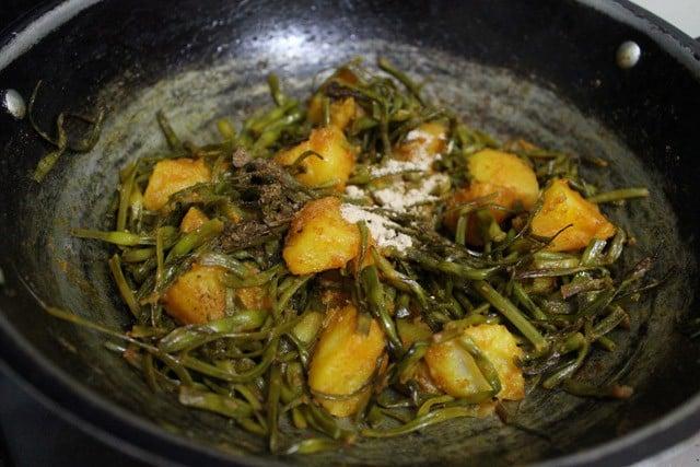 making aloo moongre ki sabzi recipe