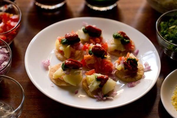 red chutney for sev puri recipe