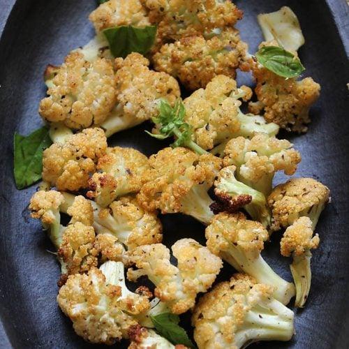 baked cauliflower: vegan baked cauliflower, baked cauliflower recipe