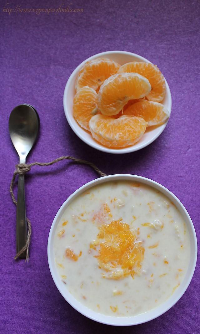 orange kheer recipe, how to make orange kheer | kheer recipes