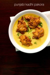 punjabi kadhi recipe, how to make punjabi kadhi pakora recipe