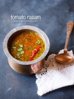 tomato rasam recipe, how to make tomato rasam | easy tomato rasam