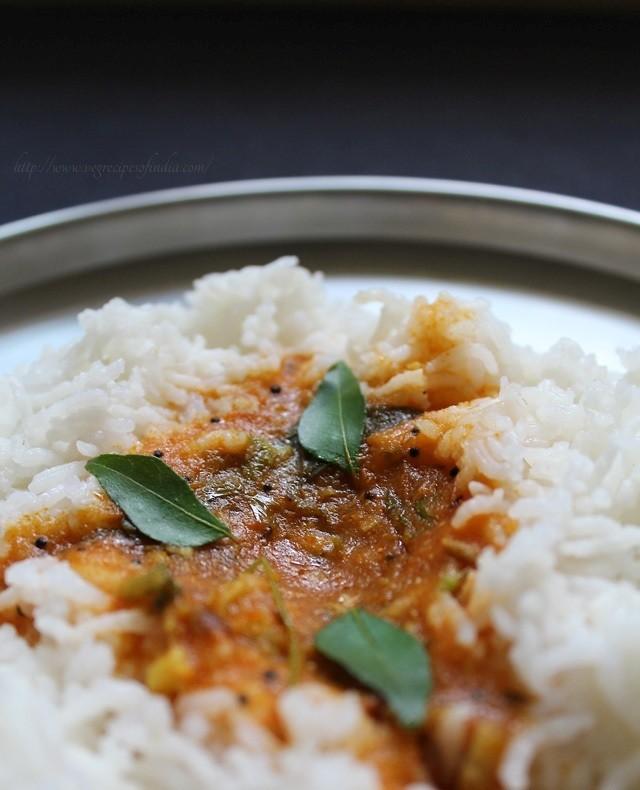 tomato rasam with rice