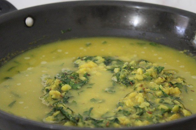 add water to dal palak recipe