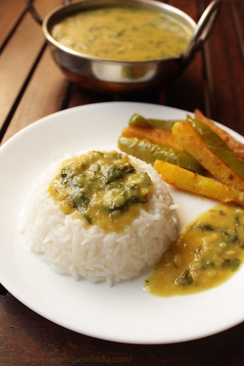 spinach dal recipe, palak dal recipe