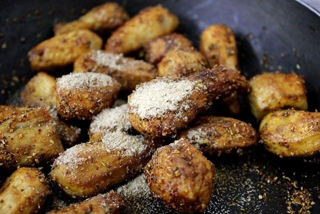 add amchur to sukhi arbi recipe
