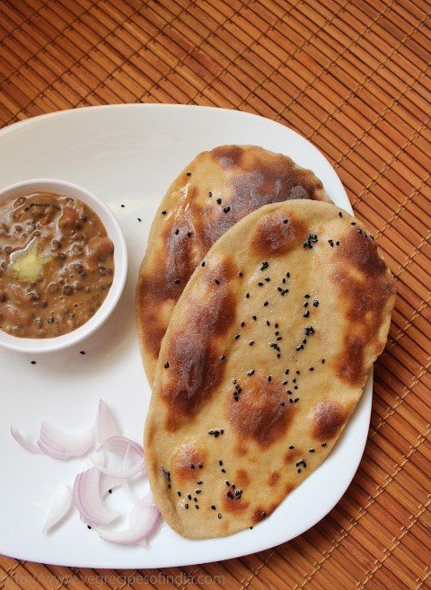 whole wheat naan recipe with yeast, how to make whole wheat naan