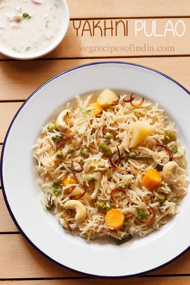 vegetable yakhni pulao recipe, how to make veg yakhni pulao recipe