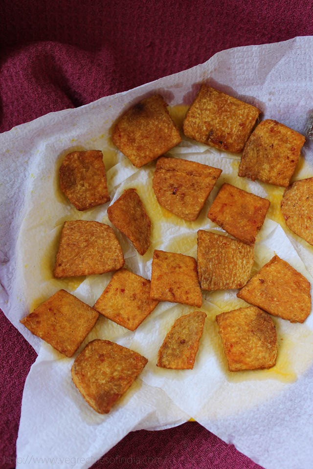 yam chips recipe, suran chips recipe