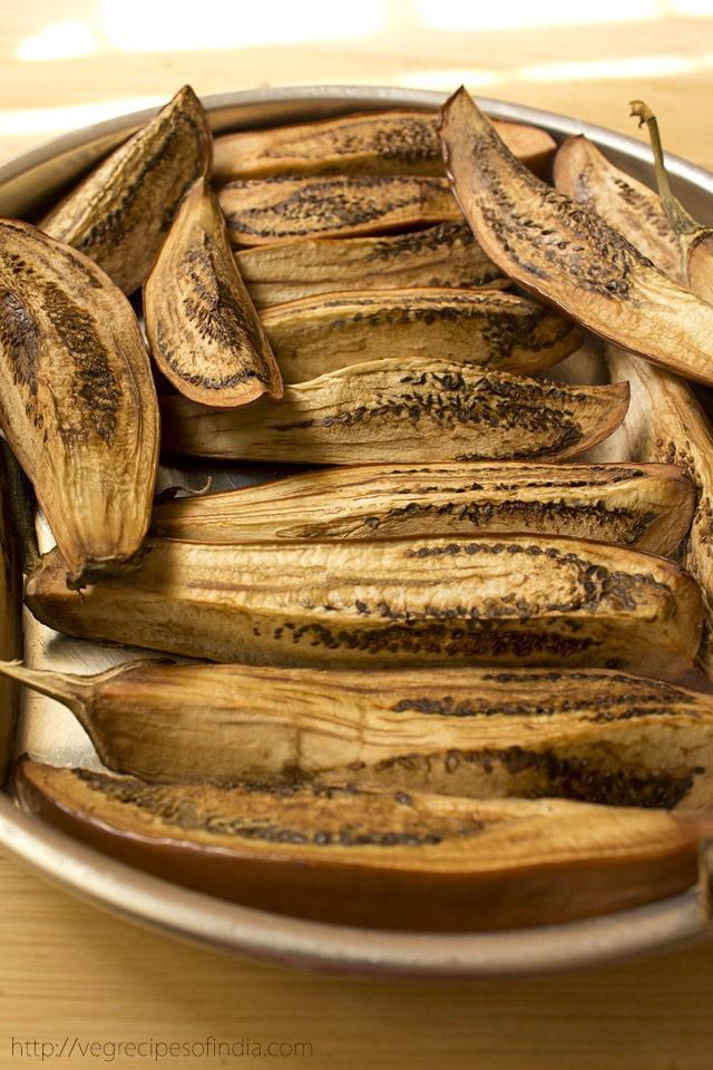 baked baingans for dum ke baingan recipe
