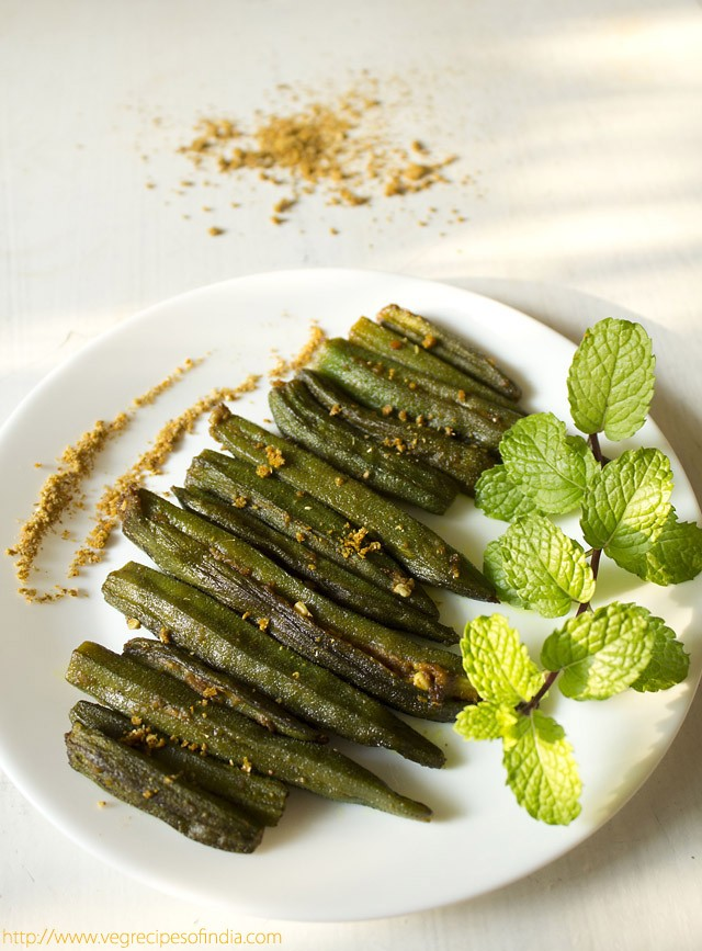 bharwan bhindi recipe or stuffed okra