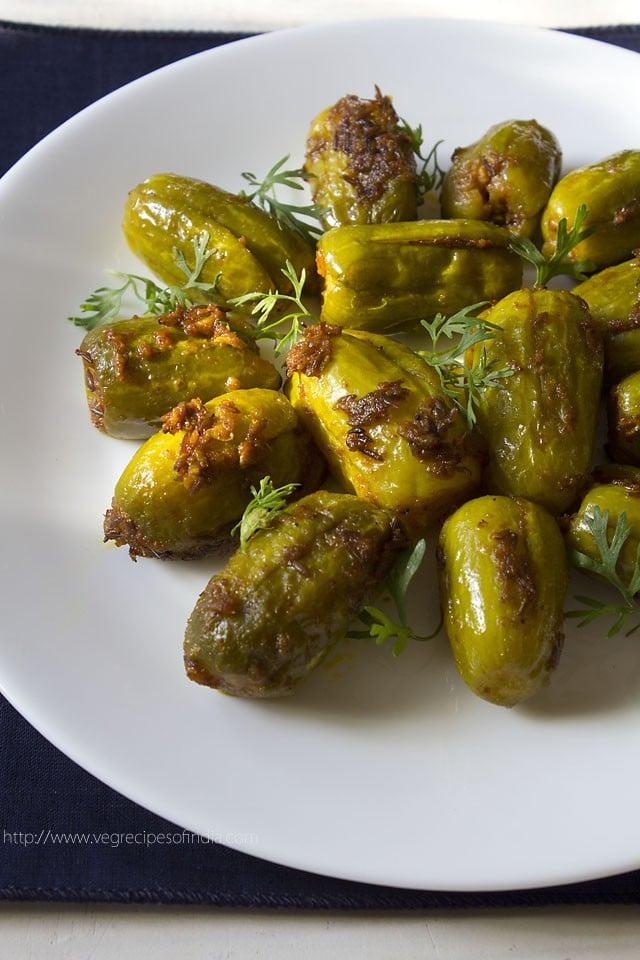 bharwan tindora, bharwan tendli recipe, bharwan tindora recipe
