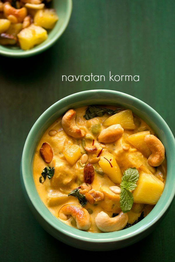 navratan korma recipe, how to make navratan korma recipe