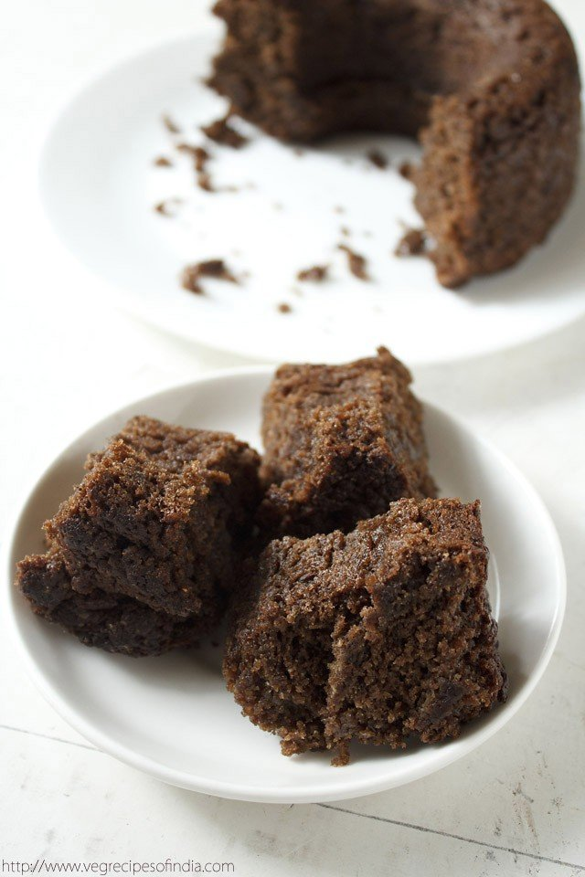 eggless banana chocolate cake recipe | vegan banana chocolate cake