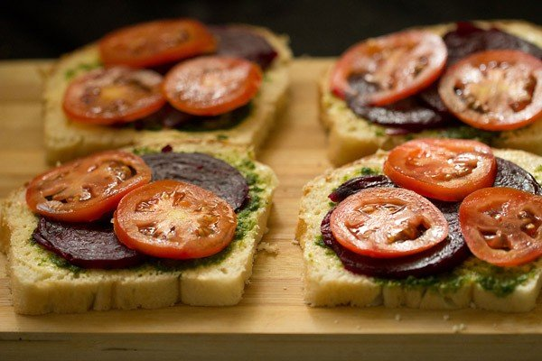 making veg sandwich recipe