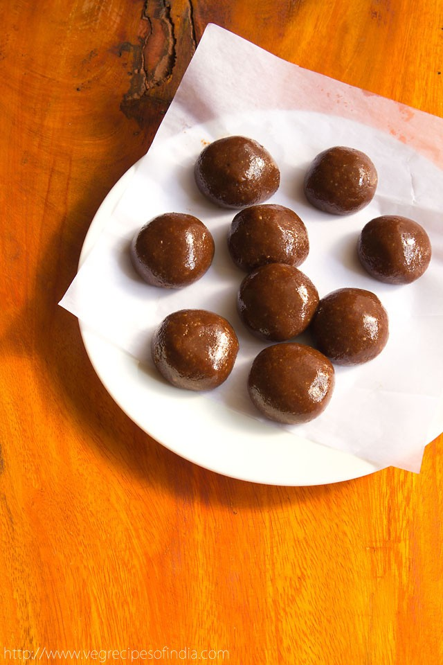 cool the mixture of chocolate marzipan