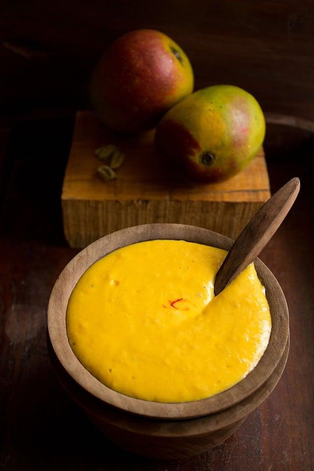 homemade mango shrikhand recipe, amrakhand recipe