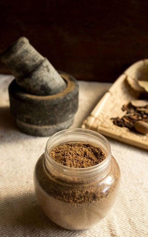 punjabi garam masala in a jar