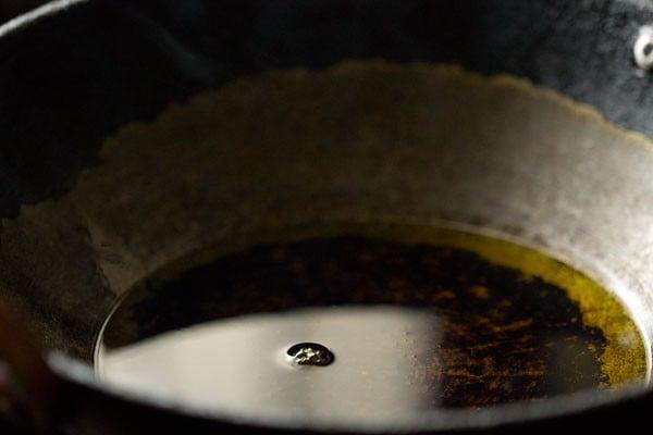 oil for kashmiri dum aloo recipe