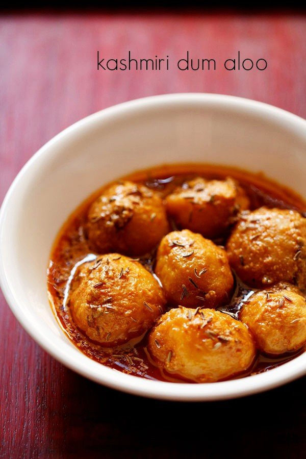 kashmiri dum aloo recipe, how to make kashmiri dum aloo recipe