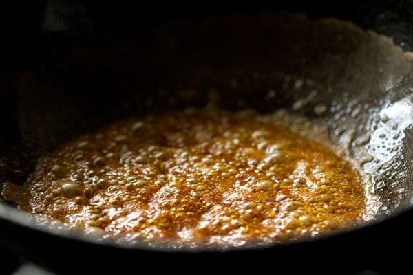 making kashmiri dum aloo recipe