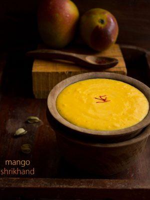 mango shrikhand, mango shrikhand recipe, amrakhand
