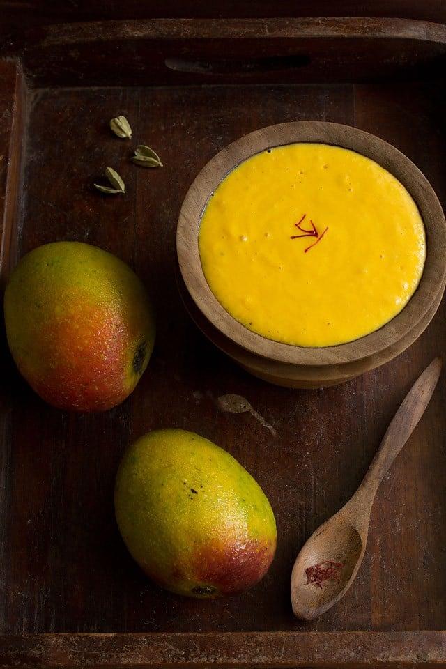 mango shrikhand recipe, amrakhand recipe